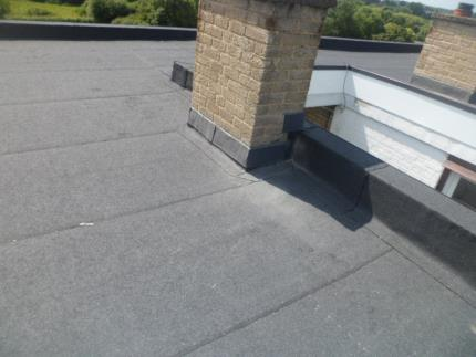 Flat roof covering