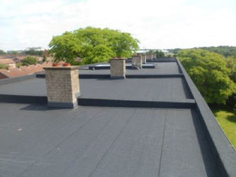 Insulation and flat roof covering at Northbrooks
